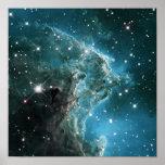 Nebulosa colorida azul da cabeça do macaco da cerc