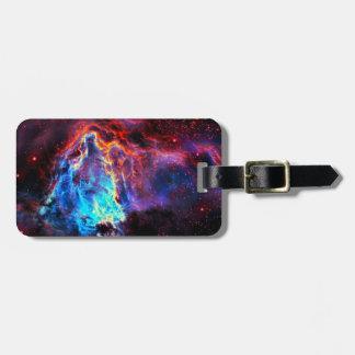 Nebulosa composta da estrela da cor imponente etiqueta de bagagem