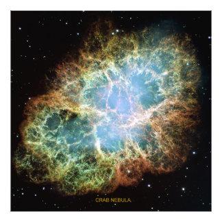 Nebulosa de caranguejo impressão de foto