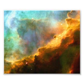 Nebulosa de Omega cisne telescópio de Hubble Impressão Fotográfica