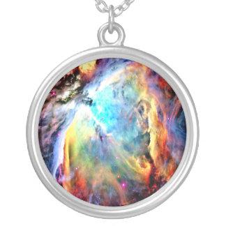 Nebulosa de Orion Colar Com Pendente Redondo