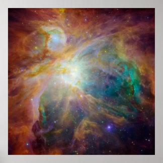 Nebulosa de Orion no espaço Pôster