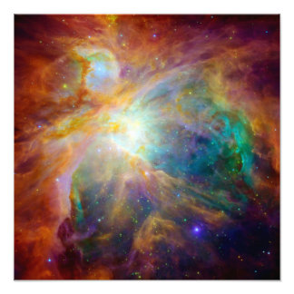 Nebulosa de Orion (telescópios de Hubble & de Spit Impressão De Foto