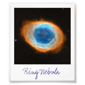 Nebulosa do anel impressão fotográficas