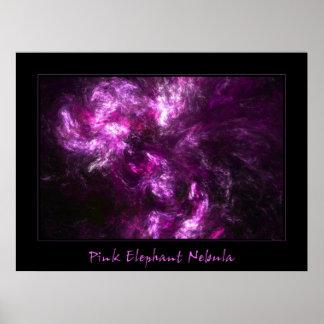 Nebulosa do elefante cor-de-rosa posteres