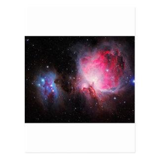 Nebulosa do fantasma da nebulosa do espaço M42 Cartão Postal