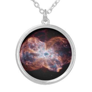 Nebulosa do laço colar com pendente redondo