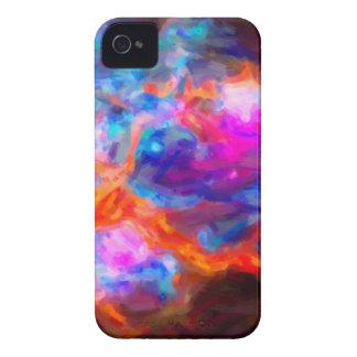 Nebulosa galáctica abstrata com nuvem cósmica 7   capinha iPhone 4