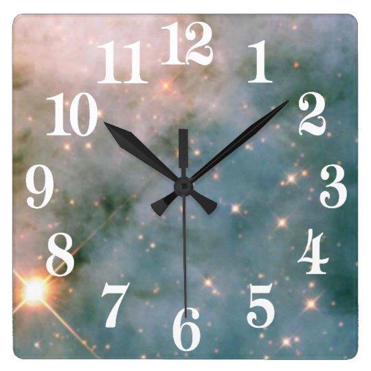 Nebulosa luminosa de Carina Relógio Quadrado
