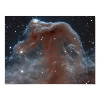Nebulosa na forma de Horsehead no rosa Impressão De Foto