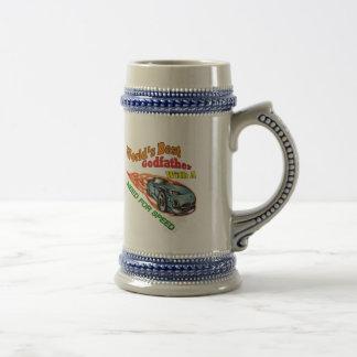 Necessidade do padrinho para presentes do dia dos caneca de cerveja