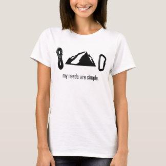Necessidades simples (escalada) camiseta