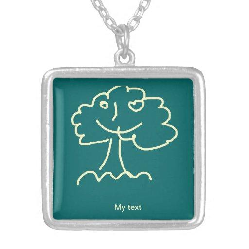 Necklace medium (square) pingentes
