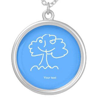Necklace (round) large colar personalizado