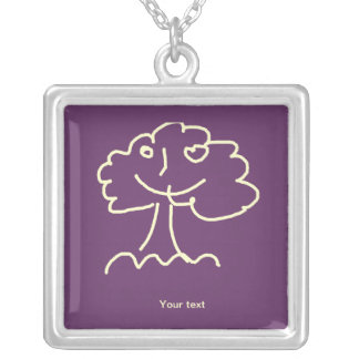 Necklace (square) large colares personalizados