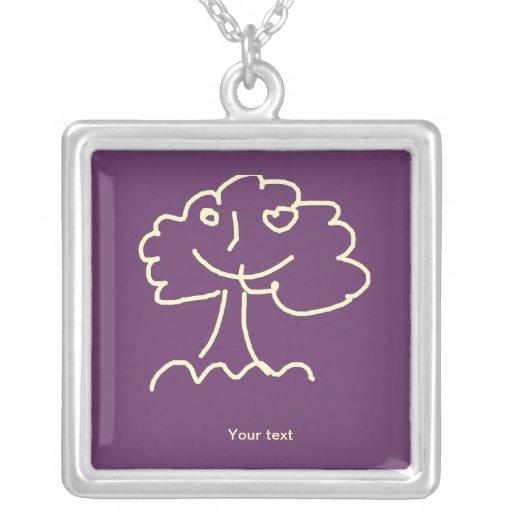 Necklace (square) large colares personalizados