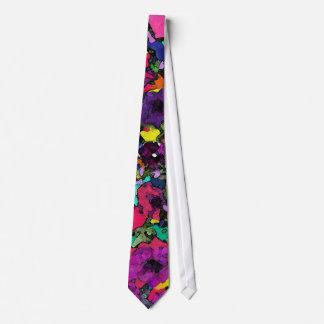 ~Necktie brincalhão das flores Gravata