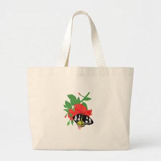 Néctar do bebendo da borboleta bolsa tote grande
