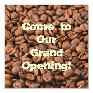 Néctar do café dos deuses! convite quadrado 13.35 x 13.35cm