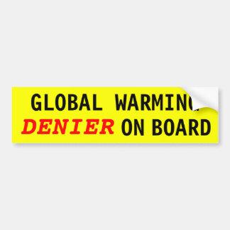 NEGADOR do aquecimento global a bordo Adesivo Para Carro