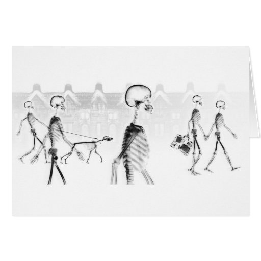 Negativo BW do Stroll da tarde dos esqueletos do r Cartao