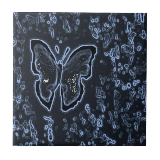 Negativo de pintura da borboleta azulejos
