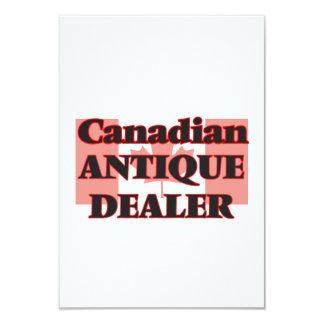 Negociante antigo canadense convite 8.89 x 12.7cm
