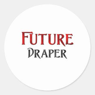 Negociante de panos futuro adesivo