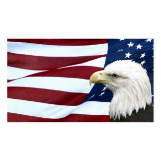 Negócio americano patriótico ou cartão de visita