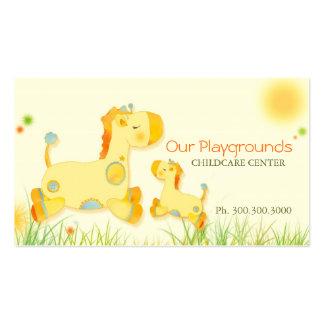 Negócio bonito do bebê da guarda da puericultura d modelos cartoes de visitas