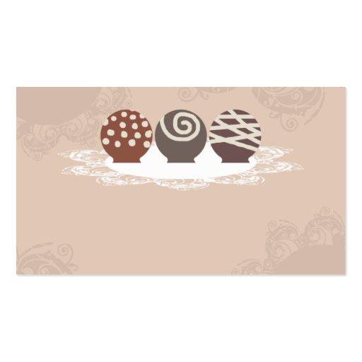 negócio Ca do cozimento do fazer dos doces de Cartões De Visitas