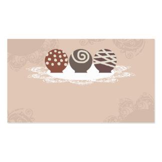negócio Ca do cozimento do fazer dos doces de choc Cartões De Visitas