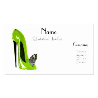 Negócio Ca dos calçados e da borboleta do estilete Cartão De Visita