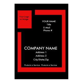 Negócio/cartão relativo à promoção - com o cartão de visita grande