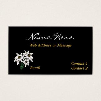 Negócio/cartões telefónicos da flor de Edelweiss Cartão De Visitas