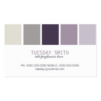 Negócio/cartões telefónicos da paleta de cores cartão de visita