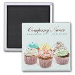 negócio colorido feminino da padaria dos cupcakes imãs