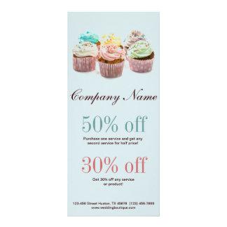 negócio colorido feminino da padaria dos cupcakes 10.16 x 22.86cm panfleto