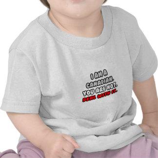 Negócio com ele… canadense engraçado camisetas