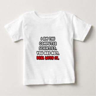 Negócio com ele… cientista de computador engraçado camiseta para bebê