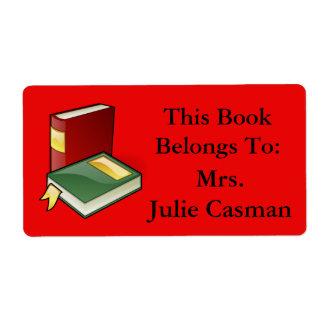 Negócio como a etiqueta do livro com livros etiqueta de frete