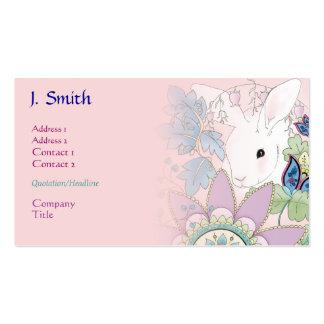 Negócio cor-de-rosa/cartões de visitas do coelho