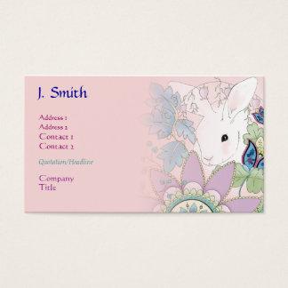 Negócio cor-de-rosa/cartões de visitas do coelho cartão de visitas