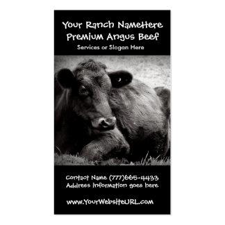 Negócio da carne do rancho ou da fazenda de gado cartões de visitas