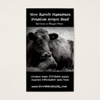 Negócio da carne do rancho ou da fazenda de gado cartão de visitas