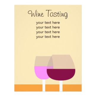 Negócio da degustação de vinhos/vinho flyer 21.59 x 27.94cm