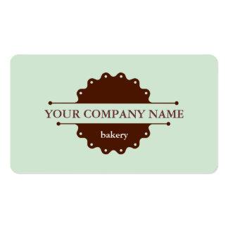 Negócio da padaria do bolo cartão de visita