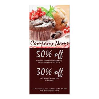 negócio da padaria do bolo de chocolate do Natal 10.16 X 22.86cm Panfleto