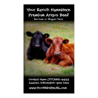 Negócio de cultivo do rancho ou do gado da carne cartao de visita