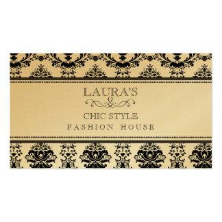 Negócio de forma à moda chique elegante barroco do cartões de visita